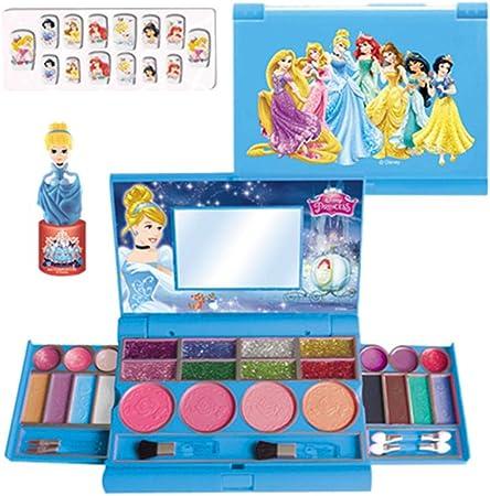 Estuche de maquillaje Blue-Yan Disney Kids Fashion Notebook, Set de maquillaje lavable para niños, Juguetes de maquillaje para niña, Set de fiesta para niños, Set de maquillaje de seguridad para niños: Amazon.es: