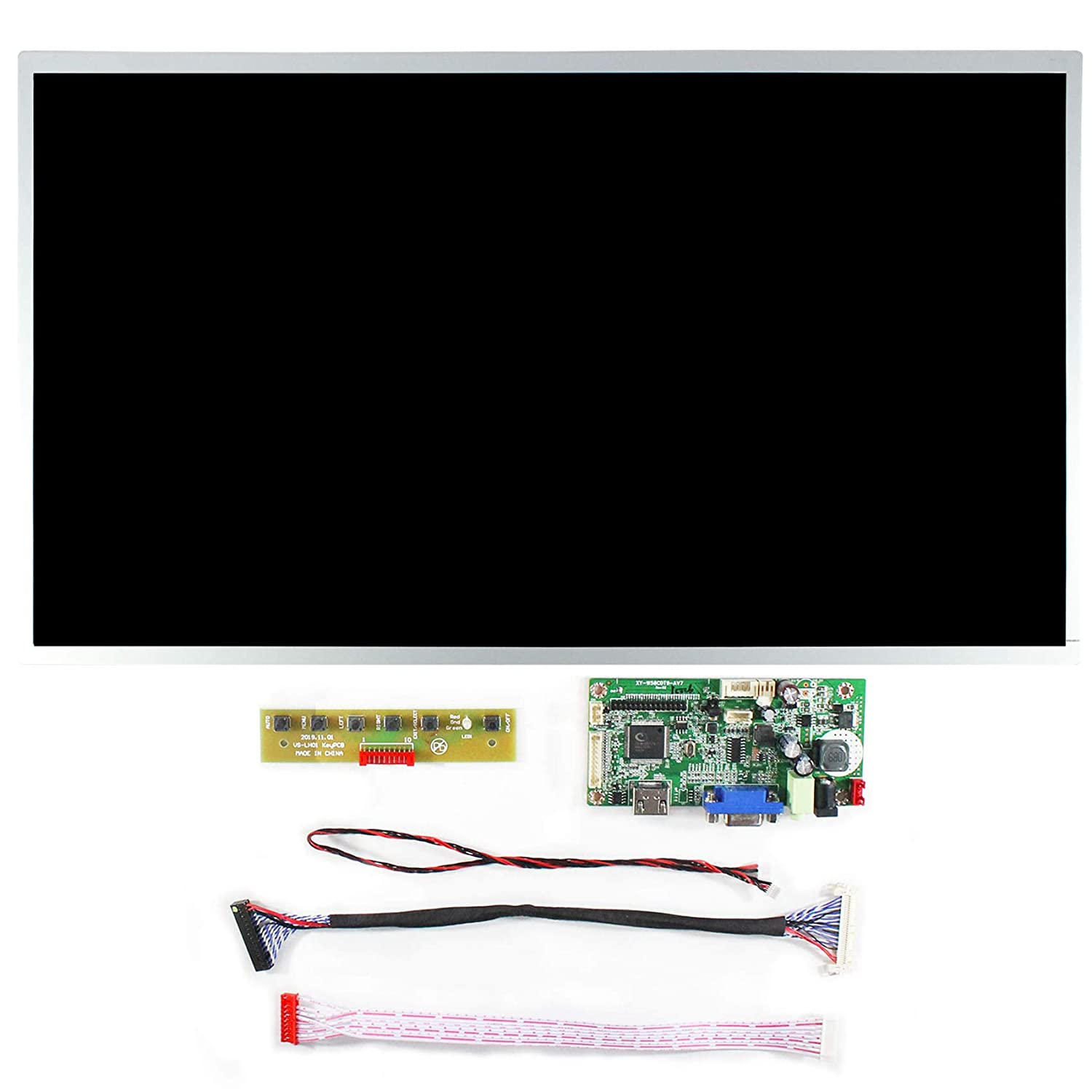 HDMI VGA AUDIO LCD Board 20.7 inch IPS LCD screen Resolution 1920RGB/×1080 Silver border LVDS Interface full viewing angle