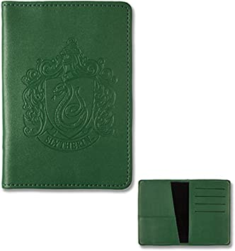 Slytherin Faux Leather Embossed Passport Holder Wallet Universal Studios 744633793181 Wizarding World of Harry Potter