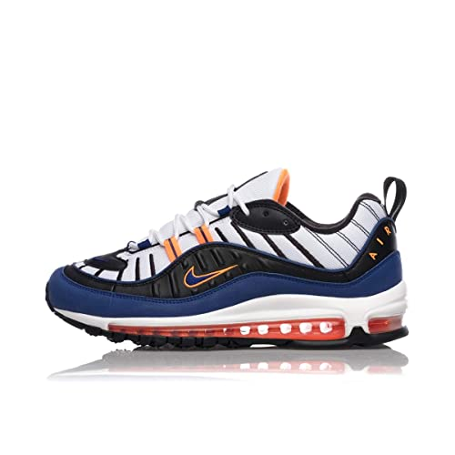 702e1d7df8 Nike Air Max 98 CD1536-100 White Deep Royal Blue Total Orange: Amazon.it:  Scarpe e borse