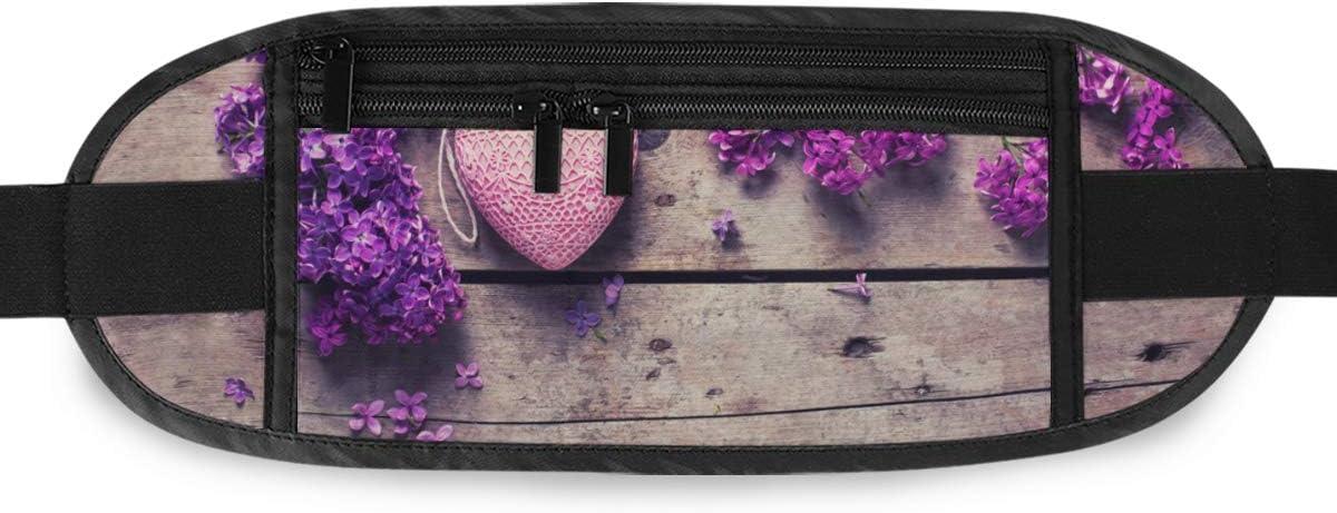 Fresh Violet Lilac Flowers Decorative Pink Running Lumbar Pack For Travel Outdoor Sports Walki Travel Waist Pack,travel Pocket With Adjustable Belt