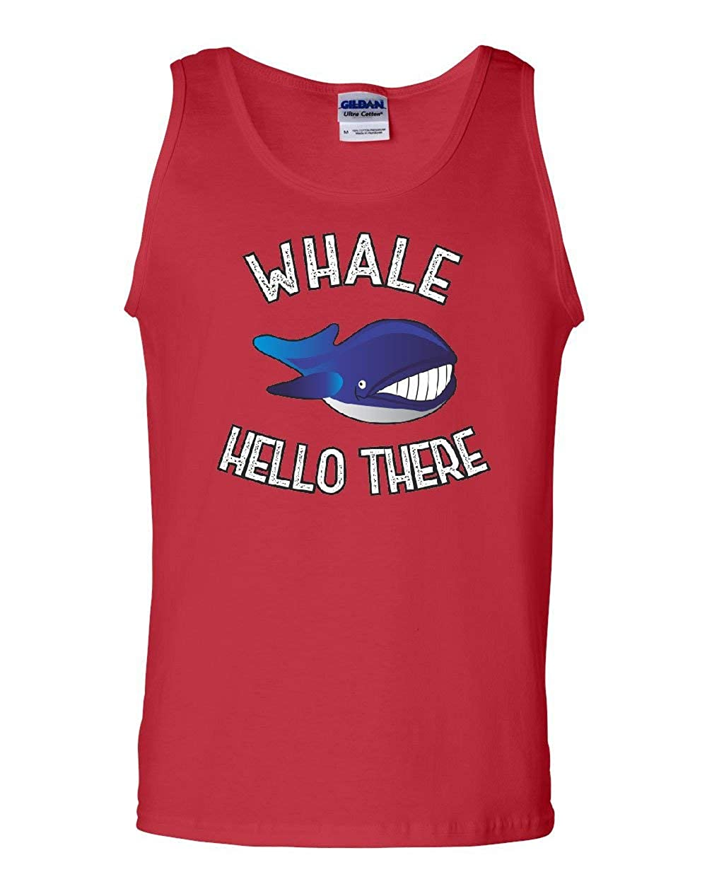 Whale Hello There Tank Top Funny Wildlife Ocean Cute Pun Wordplay Sleeveless