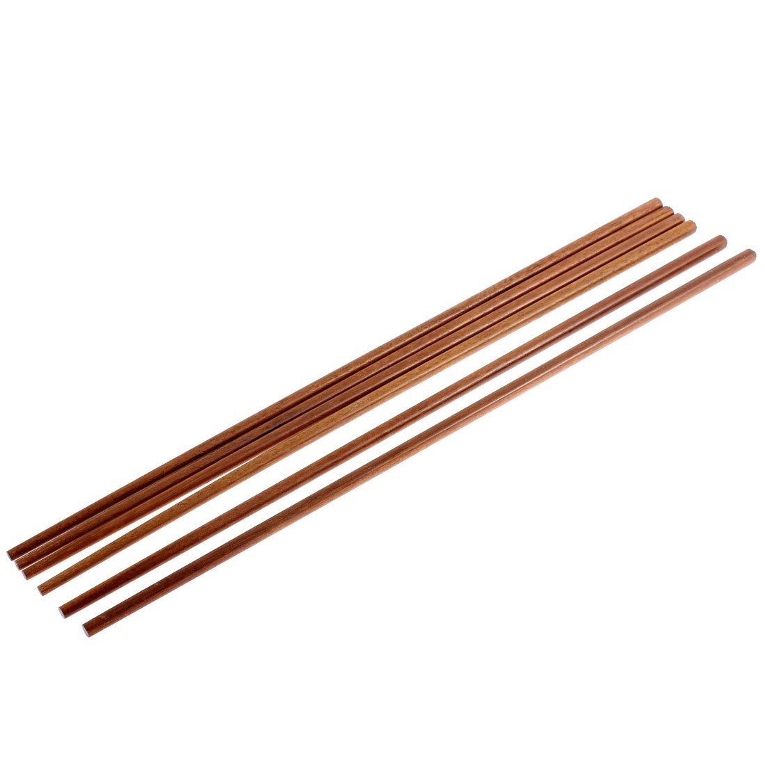 DealMux Holz Nudeln Kochen Stäbchen 16,5 Zoll Länge 3 Paare Brown