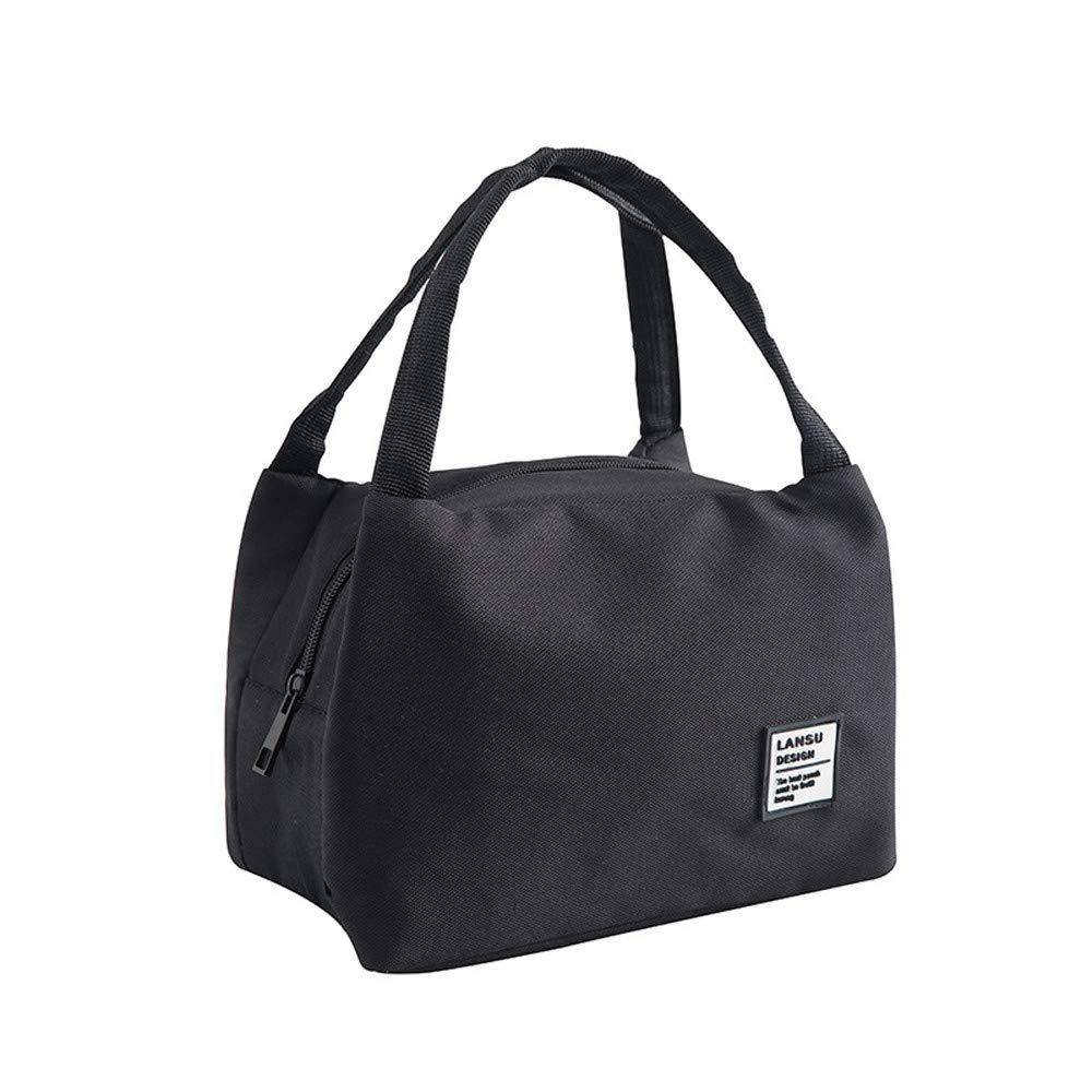 EDTO Portable for Women Kids Men Insulation Canvas Box Tote Bag Thermal Cooler Food Lunch Ba (G)