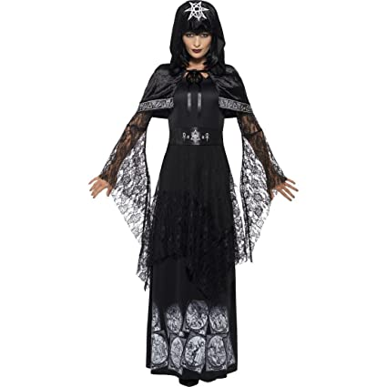 0ce35448f9cf2 Amakando Voodoo Priesterin Outfit - M (38/40) - Schwarze Zauberin ...
