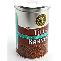 Kahve Dunyasi (Coffee's World) 8.8 Oz (250g) Premium Ground Turkish Coffee in Metal Box 100% Arabica Cofee Bean (Medium…