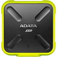 ADATA SD700 256GB Military Grade Shockproof Waterproof Portable USB 3.1 External SSD Solid State Drive (Yellow)
