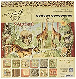 Graphic 45 4501369 12x12 Pad Safari Adventure 12x12 Pad