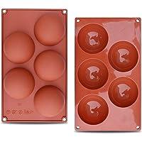 2 paquetes XL (3 pulgadas) molde de silicona esférica, molde para hornear para hacer bombas de chocolate caliente…