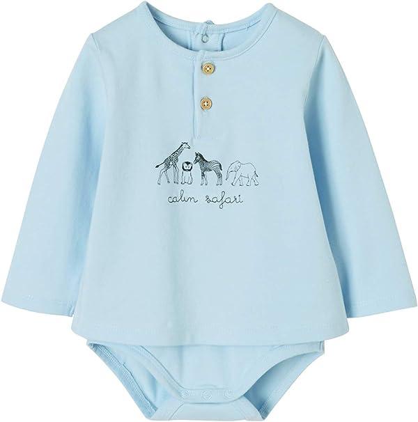 VERTBAUDET Camiseta body bebé recién nacido con motivo de ...