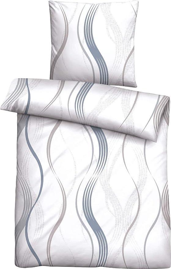 biberna 0003619 - Juego de Funda de edredón y Funda de Almohada (algodón, 135 x 200 cm y 80 x 80 cm), Color Azul: Biberna: Amazon.es: Hogar