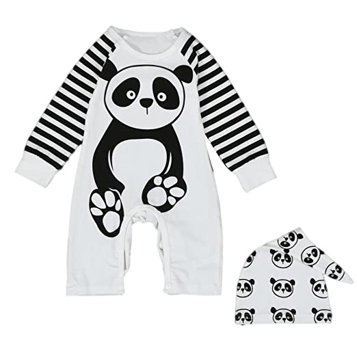 d4c96be52ba7 Toraway Newborn Toddler Infant Baby Boys Girls Panda Print Jumpsuit Romper  Outfits Clothes (6-
