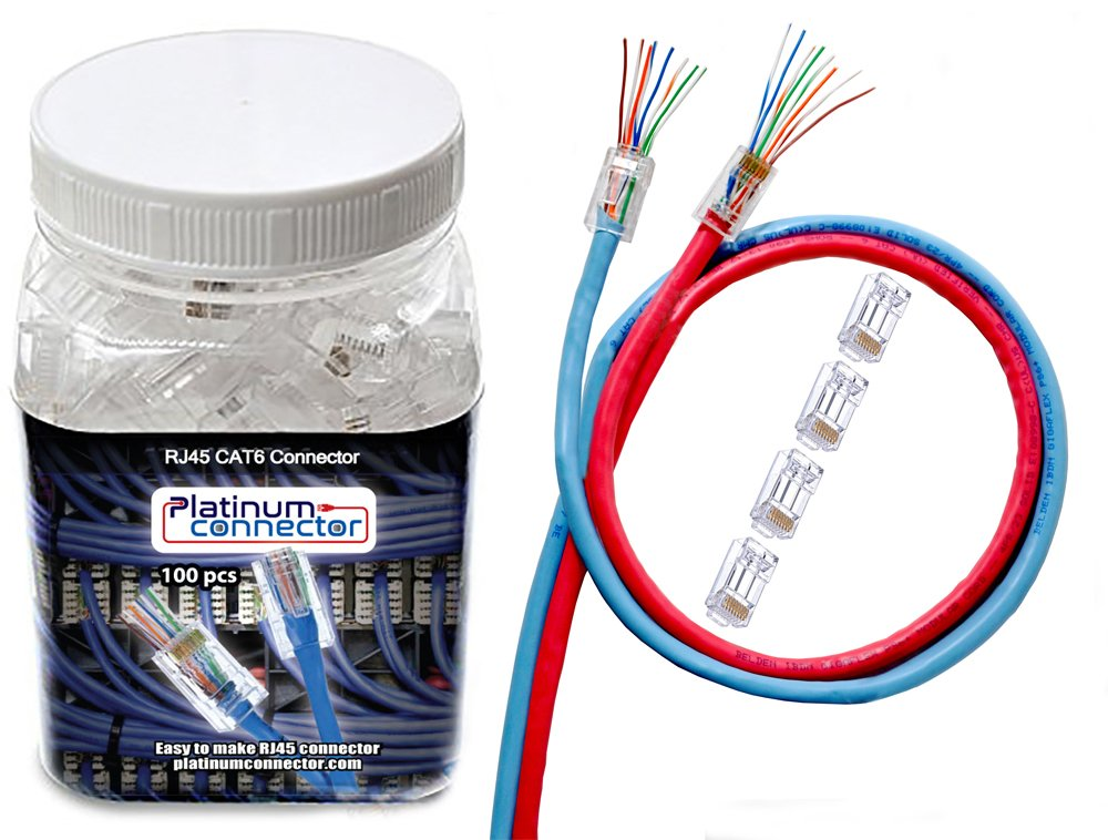 RJ45 CAT6 Platinum connector - End pass through: Amazon.de: Elektronik