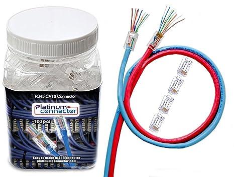 Wondrous Amazon Com Platinum Connector Cable Connector Rj45 8P8C Cat6 End Wiring Digital Resources Nekoutcompassionincorg