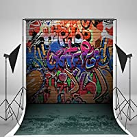 5x7ft Photography Backdrops Graffiti Wall Photo Background Colorful Letters Studio Backdrop for Children J01804