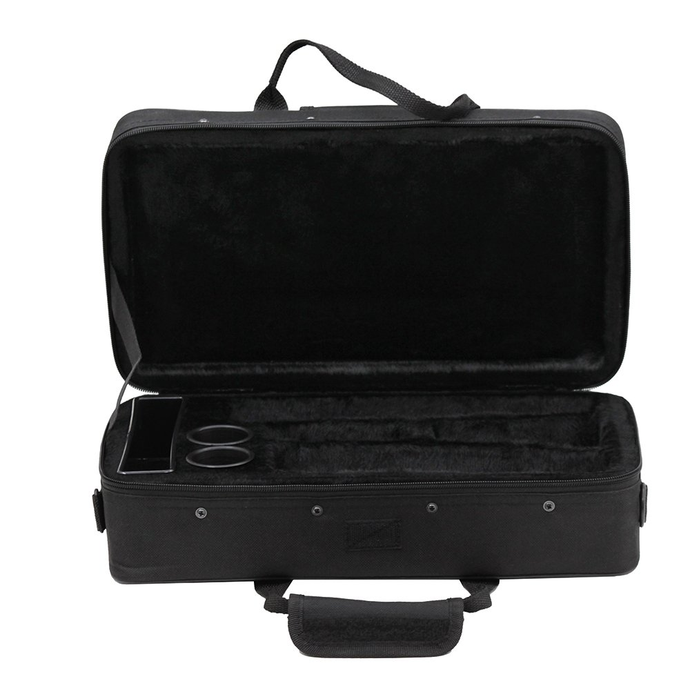 ammoon Clarinet Case Gig Bag Backpack Box Water-resistant 600D Foam Cotton Padding with Adjustable Single Shoulder Strap Clarinet Bag