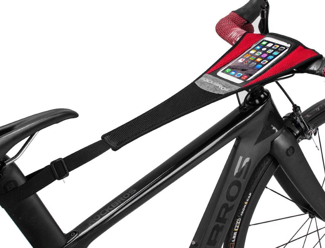 Rahmen RockBros Schwei/ßschutz f/ür Rennrad Schutzabdeckung mit Handy-Tasche Schwei/ßnetz Fahrrad