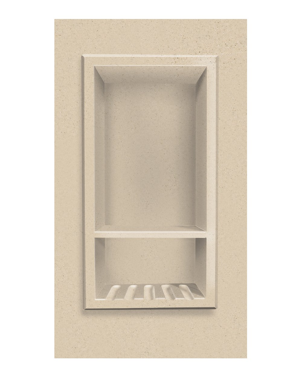 Transolid ACCESS0002-B1 Decor 7-1/2 x 15-Inch Recessed Shampoo Caddy, Matrix Khaki by Transolid