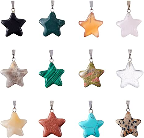 50 pcs Mixed Colors Stars Shape Bead Embellishment Craft//Kids Jewelry Make