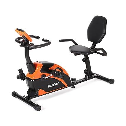 Klarfit Relaxbike 5G Bicicleta estática reclinada • Bicicleta Horizontal • Pulsómetro • Entrenamiento Cardio • Posición