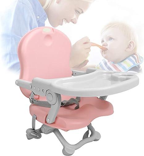 Alzador de asiento,Silla para alimentaci/ón de beb/és Rosado Asiento elevador para beb/é Trona port/átil ajustable Alto: 38//42//46//50 cm Sotech