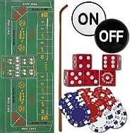 TMG Complete Casino Style Home Craps Set - Includes Bonus 2 Decks of Cards!