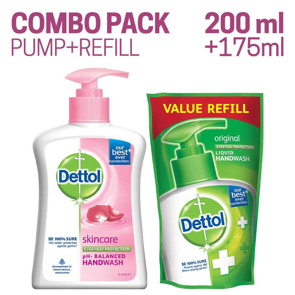 Dettol Liquid Handwash (Skincare) - 200 ml with Free Liquid Handwash - 175 ml (Any Variant) product image