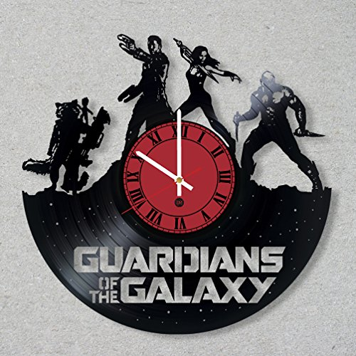 [Contemporary Vinyl Record Wall Clock comics movie Guardians Galaxy Groot modern vinyl record wall clock home room kitchen decor unique gift ideas for him her boys girls] (Thanos Movie Costume)