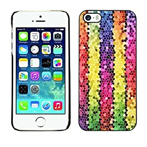 New Fashion Case BLOKK case cover / Apple iphone 5c / polygon electronic tUNC3PoxxwO 3d lines colorful / Slim Black Plastic case cover case cover Armor