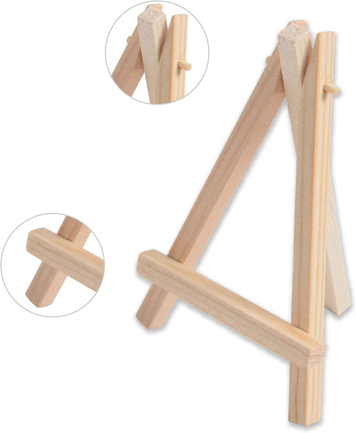 Small Stretched Canvas Tavolozza 28pc Canvas and Easel Set Include 14pc 5 Mini Easel and 14pc 4x4 Mini Canvas Panels for Drawing Painting Professional Kids Art Supplies