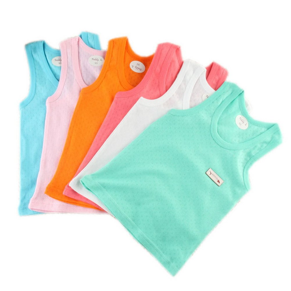 3 Packs Thin Solid Tank Tops for Kids with Breathable Holes (Random Style) PS-CLO1045156-EMILY00978