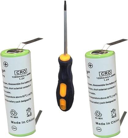 HQRP Paquete de 2 baterías Recargables Braun FreeGlider Modèle ...