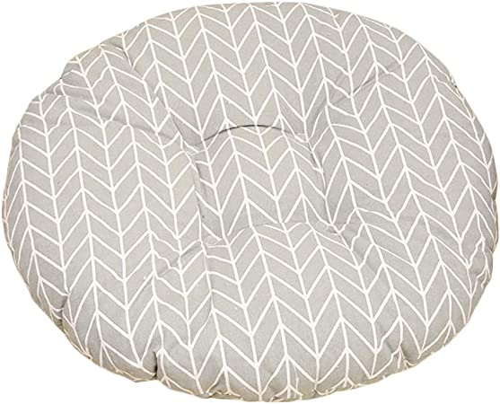 Cosanter Coussin Rond rayé Blanc Coussin