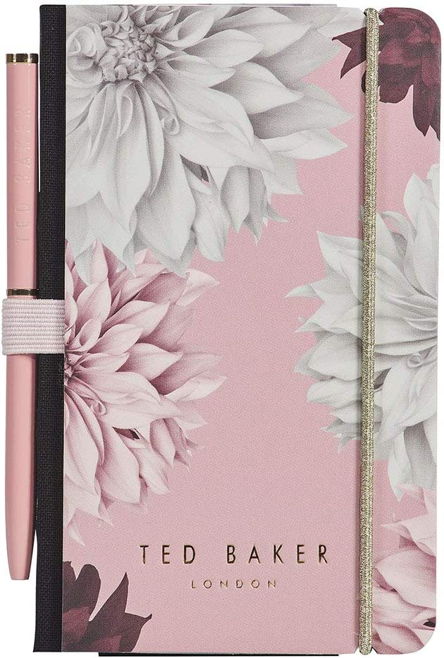 Ted Baker Mini Notebook and Pen - Pink Clove Design TED708