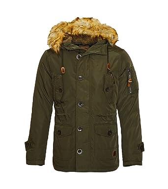 Khaki jacke mit kapuze