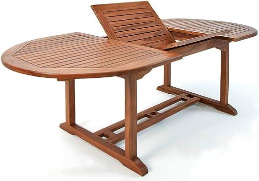 Table de jardin Vanamo Bois d\'eucalyptus 200 x 100 x 74 cm Dépliable  Extérieur Terrasse