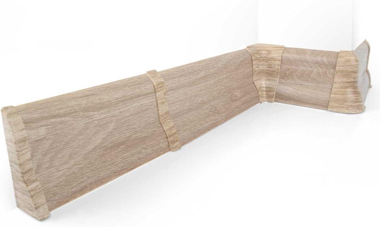 HOLZBRINK Au/ßenecke passend zum Dekor Ihrer Sockelleisten 62mm x 23mm Perfecta 119 Weiss