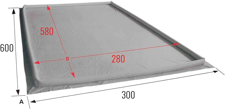 PVC groundsheet Eurotrail Air Dam supreme awning edges inflatable 400/g//m/²