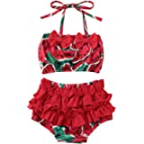 xkwyshop Toddler Baby Girl Swimsuit 2 Piece Pineapple Watermelon Bathing Suit Bikini Swimwear Beachwear Swimming Suit
