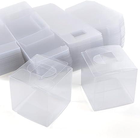 100 cajas de regalo con cubo transparente de PVC para dulces y ...
