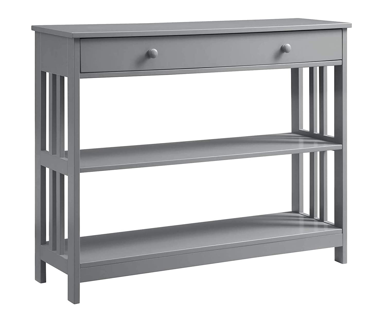 Convenience Concepts Mission 1-Drawer Console Table, Gray