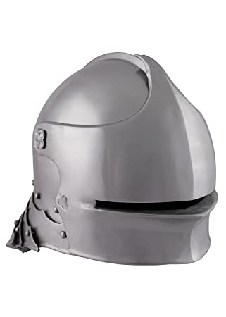 Schaller Alemana de acero para 1490 con piel Inlet Deko Casco schaukampftauglich Ritter Casco LARP Vikingo