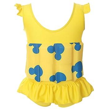 Highdas Niños gratis aprender a nadar flotador ajustable Traje de protección solar UV para el traje de baño de los bebés, Amarillo 1-2 años: Amazon.es: ...