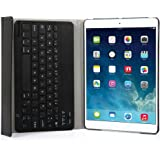 iPad Air 2 Funda con Teclado Bluetooth ,CoastaCloud iPad Air 2 Funda Cubierta Protectora con Teclado Inalambrico QWERTY Español para Apple iPad Air 2 (A1566, A1567)Negro