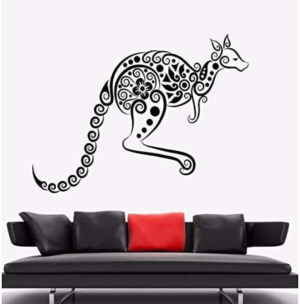 gykjf s Kangaroo Animal Vinyl Wall Decals Australia Jewelry Wall Art Murals Home Living Room Decoration Kangaroo Vinyl Art Ay1032 78 57C M