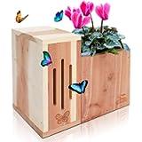 Solution4Patio Expert in Garden Creation #G-B309A00-CA USA Cedar Butterfly House & Flower Pot 2 in 1 Combination…