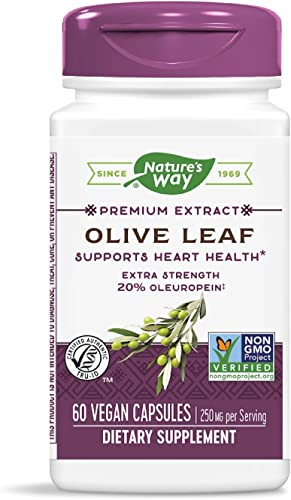 Nature's Way Premium Extract Standardized Olive Leaf 20 Oleuropein