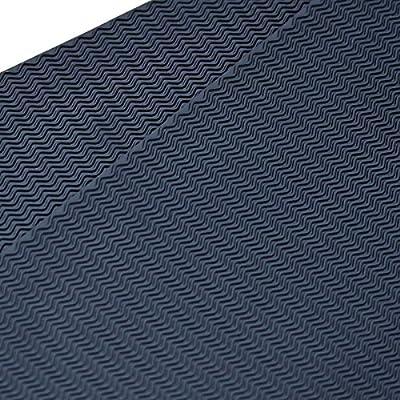 "2 Packs EZ ShoePAD small black wave pattern rubber shoe soling sheet (3/32"" thickness) shoe sole repairing rubber sheet"