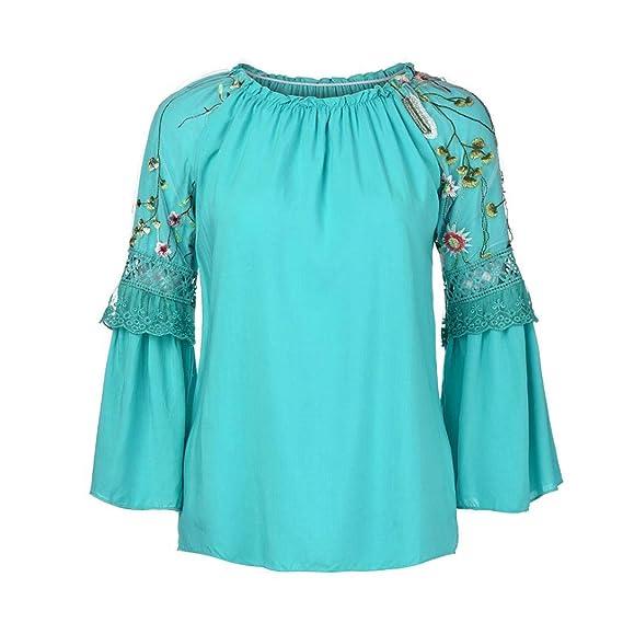 Lenfesh Blusa Mujer Camisa De Manga Larga Elegante Mujer Camisa Casual Fiesta Citas Playa Camisas Moda