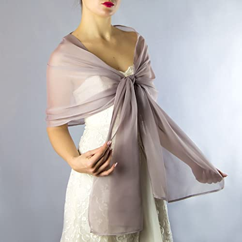 Chal chiffon color rosa gris beige novia boda novia para vestido de fiesta